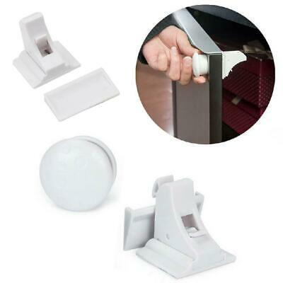 Baby Safe Magnetic Cabinet Locks Invisible Cupboard Drawer No Screws Needed Lot