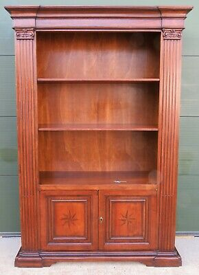 Large Library Bookcase with Cupboard, Antique Style, Italian Design, h:215cm