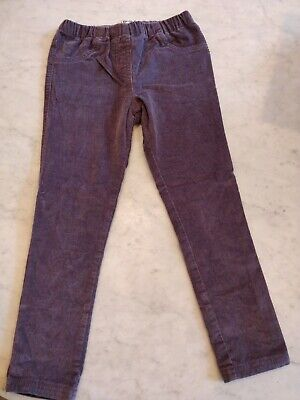 Girls Mini Boden Purple Needle Cord Trousers 6 Years