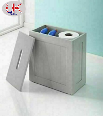 Wooden Crisp Finish Small Toilet Cleaning Product Storage Tidy Box Unit Bathroom