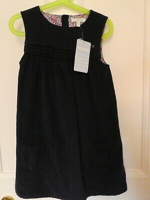"jojo maman bebe girls fine cord dress age 5-6 ""NEW with tags"""