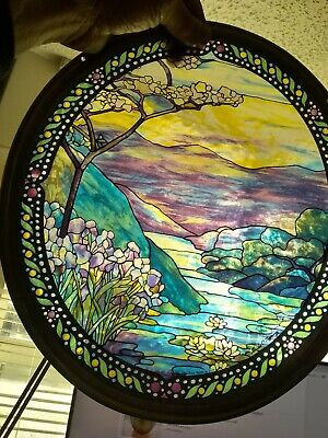 "Vintage LOUIS C TIFFANY  "" Tree of Life ""  Stained Glass Glassmasters"
