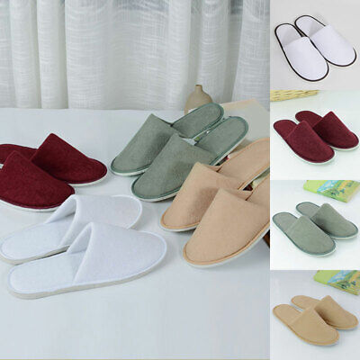 CLEARANCE WOMENS PINK SOFT COTTON TERRY HOTEL STYLE SLIPPERS CLOSED TOE 29CM LOT