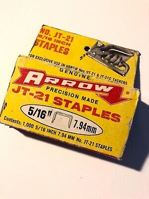 Arrow JT-21 Staples 5/16 Inch 7.94mm Vintage