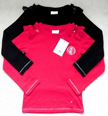Bnwt Girls Next Christmas Party Tops 3 Yrs 2-3 Red Black Lace Dress Top Coat Jkt