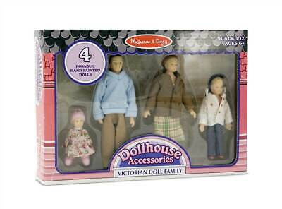 4 Pc Dollhouse Family in Vinyl with Bendable Limbs [ID 8631]