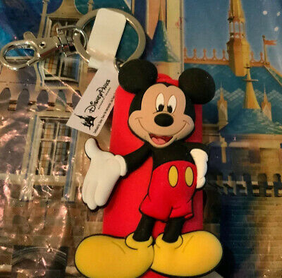 Disney Parks Mickey Mouse Hand Sanitizer Key Chain Sealed NWT