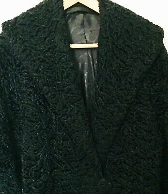 Vintage Astrakhan look and feel winter swing coat size approx 14 -16