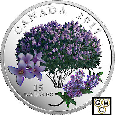2017'Lilac Blossoms-Celebration of Spring'Color Prf $15 Silver.9999Fine(18087)NT