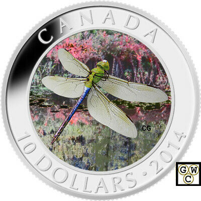 2014 'Green Darner Dragonfly' Proof $10 Silver Coin .9999 Fine (13900) (NT)