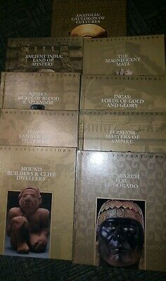 Time Life Lost Civilization Series 9 Books Anatolia, India,Aztec, PersMaya, Inca