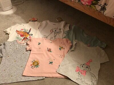 Girls T-shirt Bundle age 4 to 5 - 6 items- Next, Cath Kidston, Fat Face