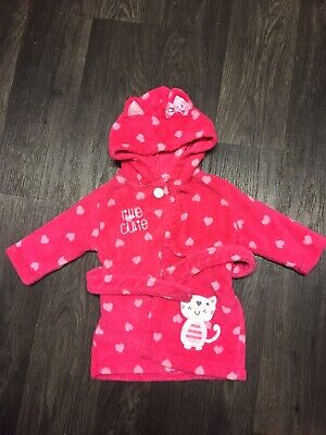Baby Girls Dressing Gown Age 6-9 Months