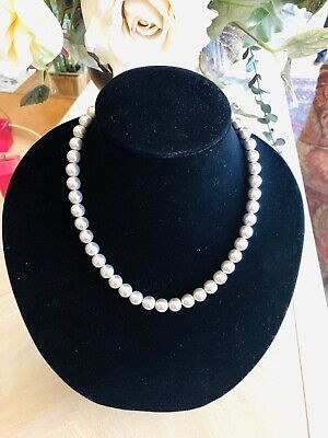 Vntg Tiffany & Co. Ball Bead Necklace 18 Inches Long Sterling Silver No Box Vgc