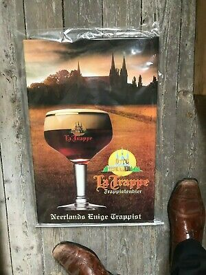 Trappist La Trappe reclame beer sign metal new in blister trappistenbier Neerlan