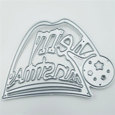 Metal Cutting Dies Christmas Hat Decoration Scrapbook Xmas Card Craft Embossing