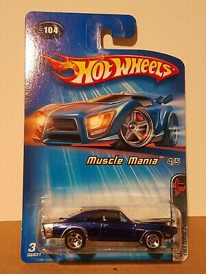 Hot Wheels 2005 Muscle Mania Series Blue 1969 Dodge Charger