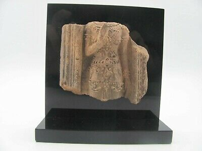 Antique Mounted Clay / Terracotta Buddhist Votive Fragment from Thailand