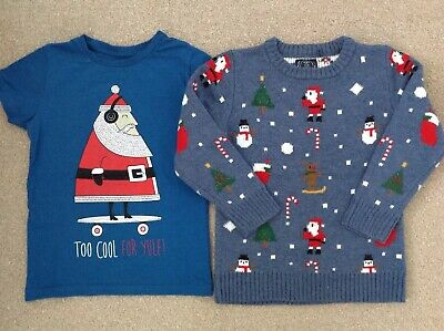 Boys Christmas Light Up Jumper & T-Shirt Bundle ~ Age 6 Yrs Fits 5-6 Years Next!