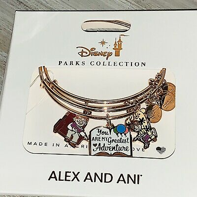 Disney Alex & And Ani UP Carl Ellie Greatest Adventure Rose Gold Bracelet
