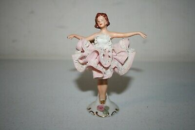 Dresden Lace Porcelain Dancer Ballerina Figurine Germany