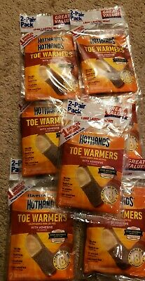 HotHands TOE WARMERS w Adhesive 7 Double Packs (14 warmers) Expires 2022