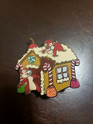 Disney Chip & Dale Gingerbread House Pin LE 1000 Rare