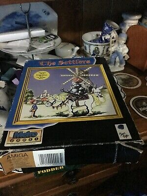 Amiga Boxed Game The Settlers + Instruction Manual