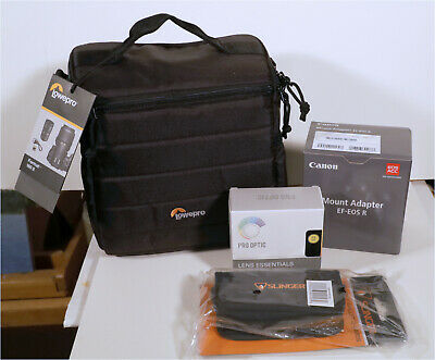 Canon Mount Adapter EF-EOS R, BRAND NEW + CAMERA BAG, 72mm FILTERS, CARD WALLET