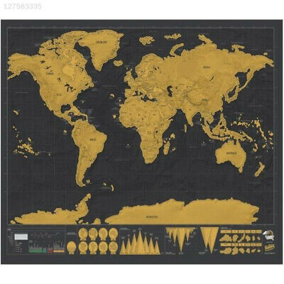 53D1 8pcs/Bag Diy Scratch Pen Set Scratch Map Tool Set Gift World Maps Novelty