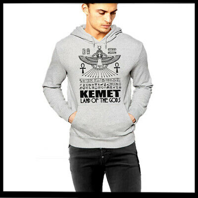Kemet Land Of The Gods Grey Pullover Ancient Egyptian Deity African Knowledge