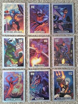 Marvel Masterpieces 1994 Silver Holofoils - Lot of 9, Almost Complete!