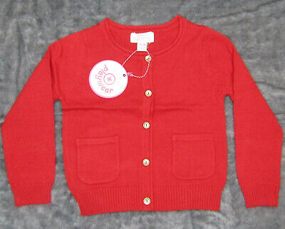Pumpkin Patch Girls Size 1 Rococco Red Carly Rose Cardigan, BNWT