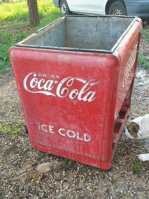 Coca Cola Cooler Chest Icebox Vtg 1936