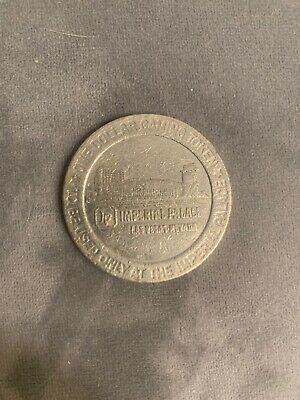 Vintage 1960s Imperial Palace Las Vegas Casino Nevada Token Chip Dollar Gaming