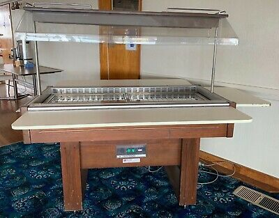 HOT FOOD BAIN MARIE TRAY+POLY COVER GLASS DISPLAY fully working as per photos