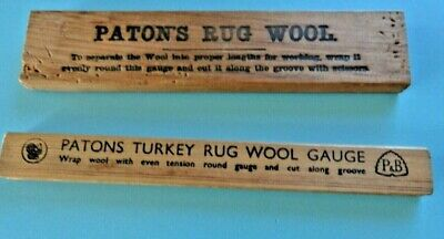 Two Vintage Turkey Rug Wool Guages Patons Patons & Baldwin