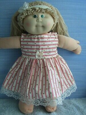 "16"" CABBAGE PATCH Dolls Clothes / DRESS*HEADBAND  / hearts & stripes"