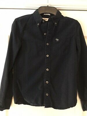 Boys Shirt Icon Flannel Navy Age 7/8 Yrs Abercrombie And Fitch