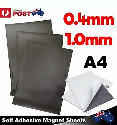 1-20x A4 Magnetic Magnet Sheets Self Adhesive Backed Thickness Crafts Material