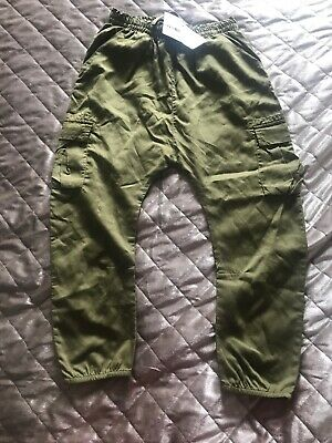 BNWT NEXT Khaki Green Trousers Age 9 Years Rrp £19