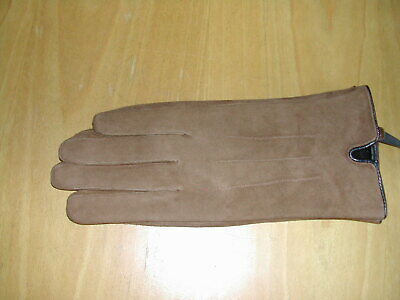 Ladies Leather Gloves  -  Brown / Tan  -  Small / Medium Size  -  Brand New