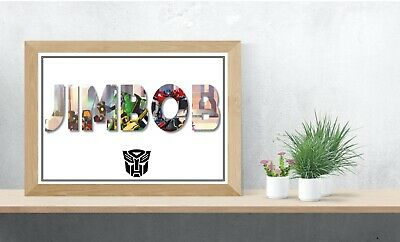 Transformers Personalised Name Wall Art Print Poster Ideal Gift A4 Wall Art