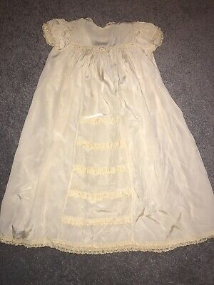 Agatha (from Scotland) Vintage Silk Embroidered Christening Gown / Nightdress