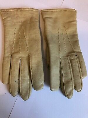 Vintage 60'S Ladies Cream Debroyal Gloves Size 7.5