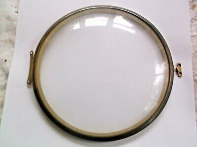 GLASS /BRASS RIM.FROM AN OLD SMITHS  MANTLE CLOCK 6 1/4 inch OUTER diam REF EB8