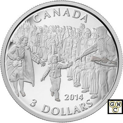 2014 'Wait for me Daddy' Proof $3 Silver Coin .9999 Fine (15009) (NT)