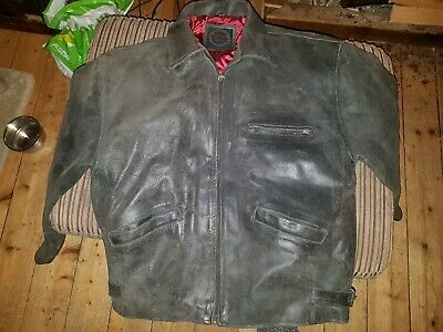 Vintage Wallace Sacks Gents Leather Jacket In Good Condition