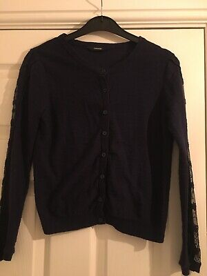Girls Age 10-11 Navy Blue Cardigan From George