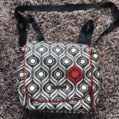 Petunia pickle bottom boxy backpack diaper bag Red Gray